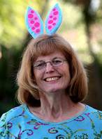 Linda as the Easter Bunny